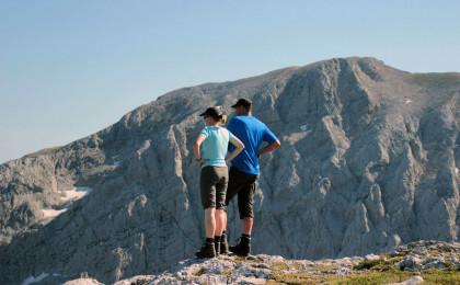Bergsteiger vor dem Hohen Göll