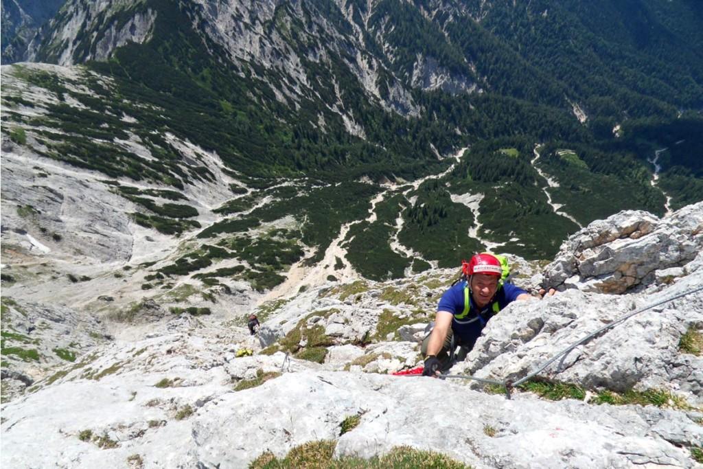 Klettersteig an den Südabstürzen des Wagendrischlhorns