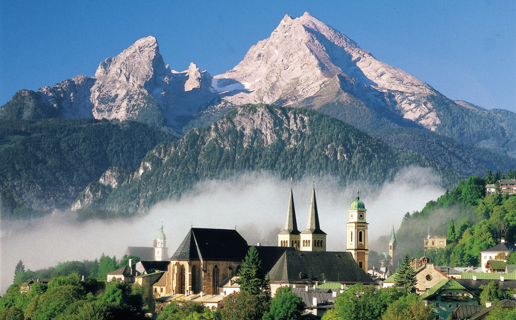 Berchtesgaden vor dem Watzmann
