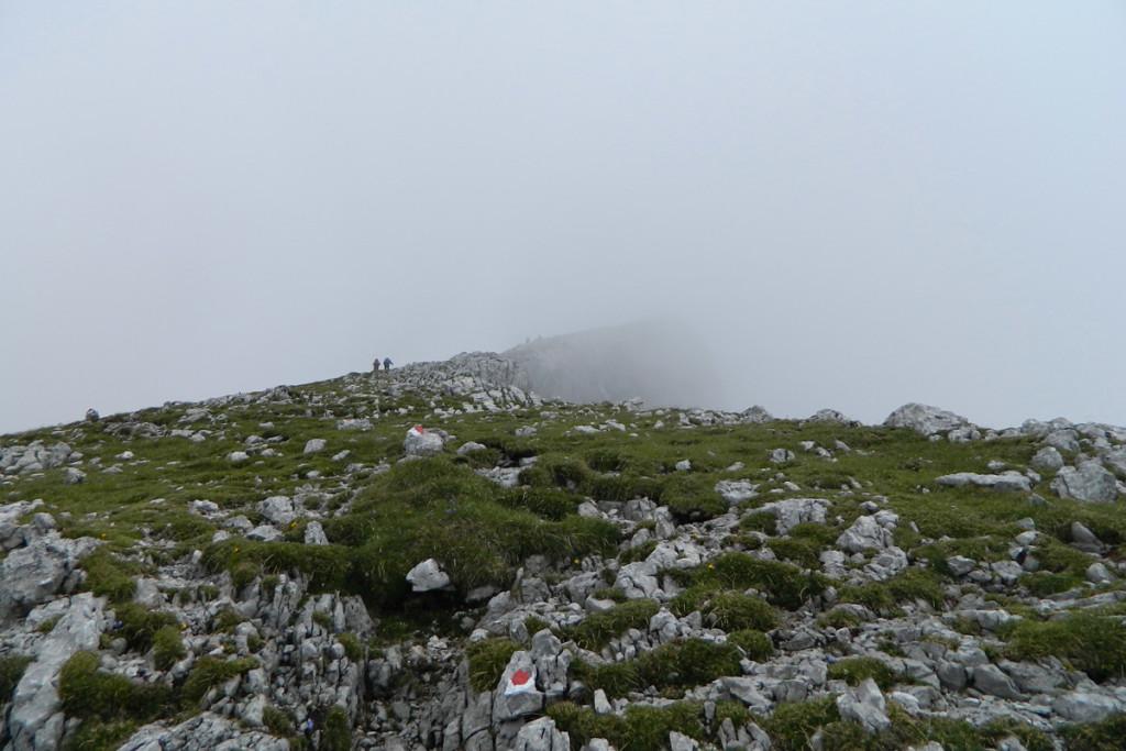 Aufstieg zum Kammerlinghorn im Nebel