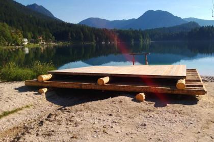 Floß für das Seefest am Hintersee