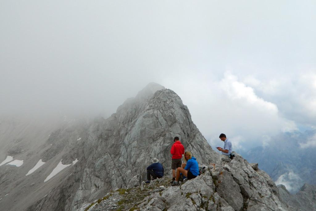 Am Gipfel des Kammerlinghorns