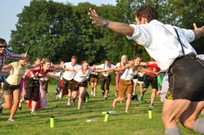 Lederhosen-Training mit Trainer Klaus Reithmeier