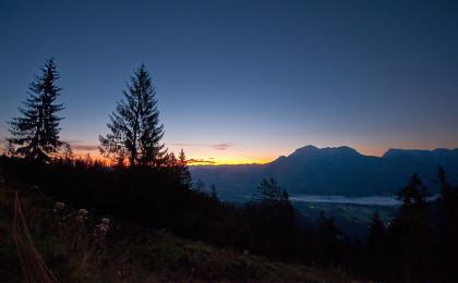 Hirschkaser Sonnenaufgang