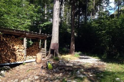 Holz Lagerplatz des Staufenhauses
