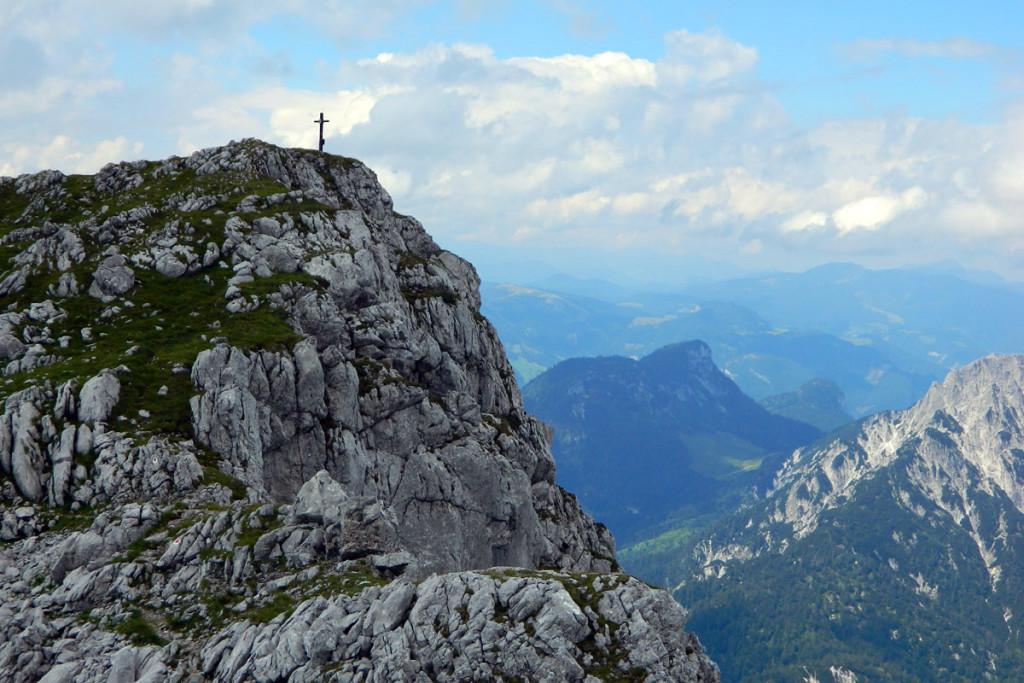 Karlkopf (Karlkogel) beim Abstieg vom Kammerlinghorn
