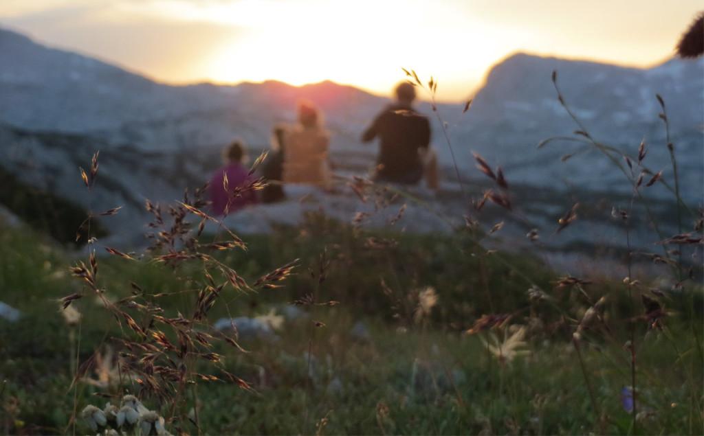 Sonnenuntergang unterhalb des Viehkogels