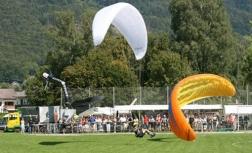 Landung der Paraglider