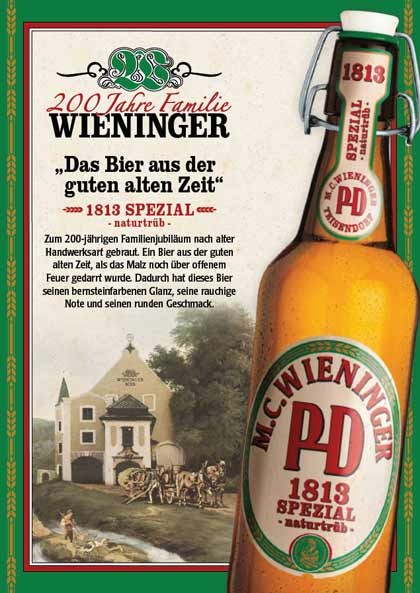 Wieninger 1813 Jubiläumsbier