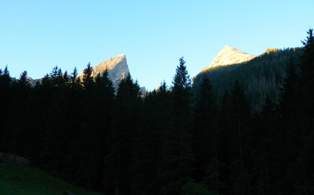 Blick von Schapbach zum Watzmann