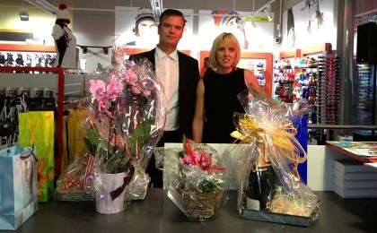 Cordula und Marcus Chiba der Eröffnung des neuen Ladengeschäftes