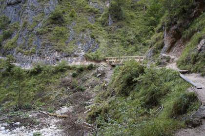 Diese Brücke wurde nach dem Unwetter komplett erneuert