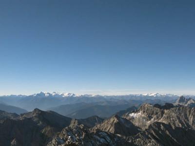 Blick vom Gipfel des Hochkalter