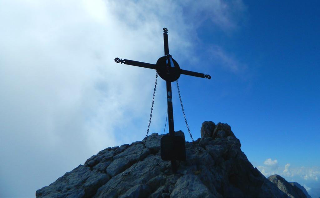Gipfelkreuz Watzmann Mittelspitze