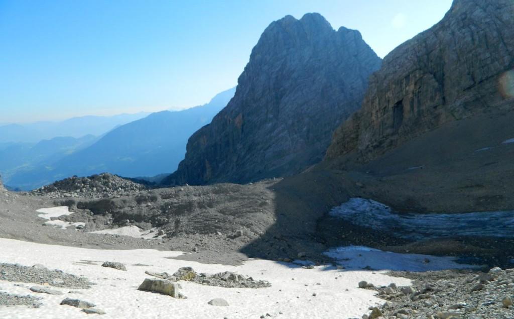 Die Überreste des Watzmanngletschers