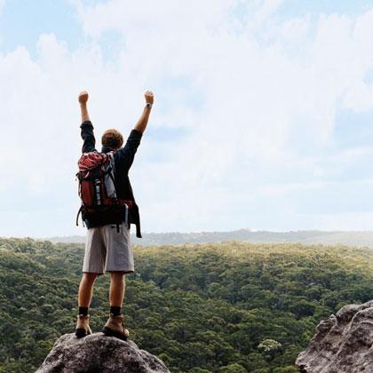 Mit dem passenden Rucksack erklimmen Sie erfolgreich jeden Gipfel © Digital Vision/Thinkstock