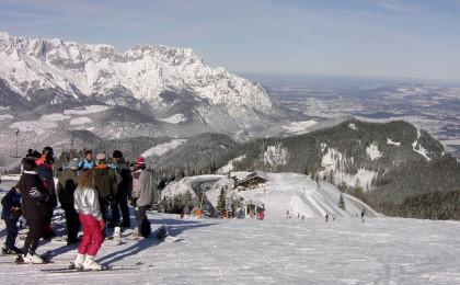 Skifahrer am Roßfeld