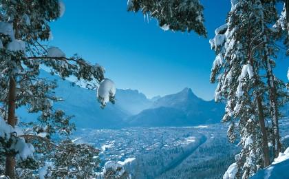 Winter über Bad Reichenhall