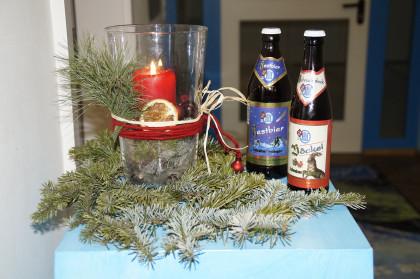 """""""zum Nachtrunk anregend"""" - Berchtesgadener Bier"""