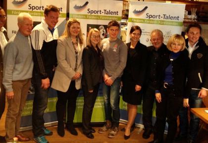 Förderer, erfolgreiche Sportler und Vorstand des Fördervereins Sport-Talent.