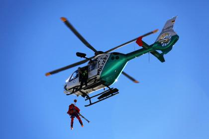 Abseilen vom Hubschrauber ©BRK BGL