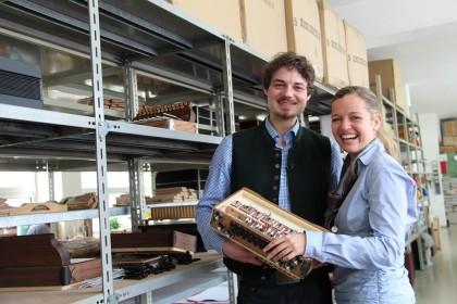 Christina Brunauer und Auer Hansi beim Öllerer