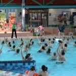 Heike Drechsler während ihren Aqua-Gymnastik-Schnupperkursen.