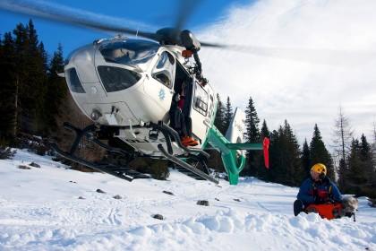 Bergwachteinsatz mit Hubschrauber ©BRK BGL