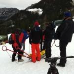 ARD Brisant dreht mit Bergwacht Berchtesgaden