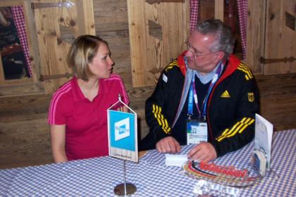 Magdalena Neuner und Minister Hermann