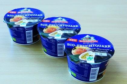 Bio-Pfirsich-Maracuja-Quark der Berchtesgadener Land Milch