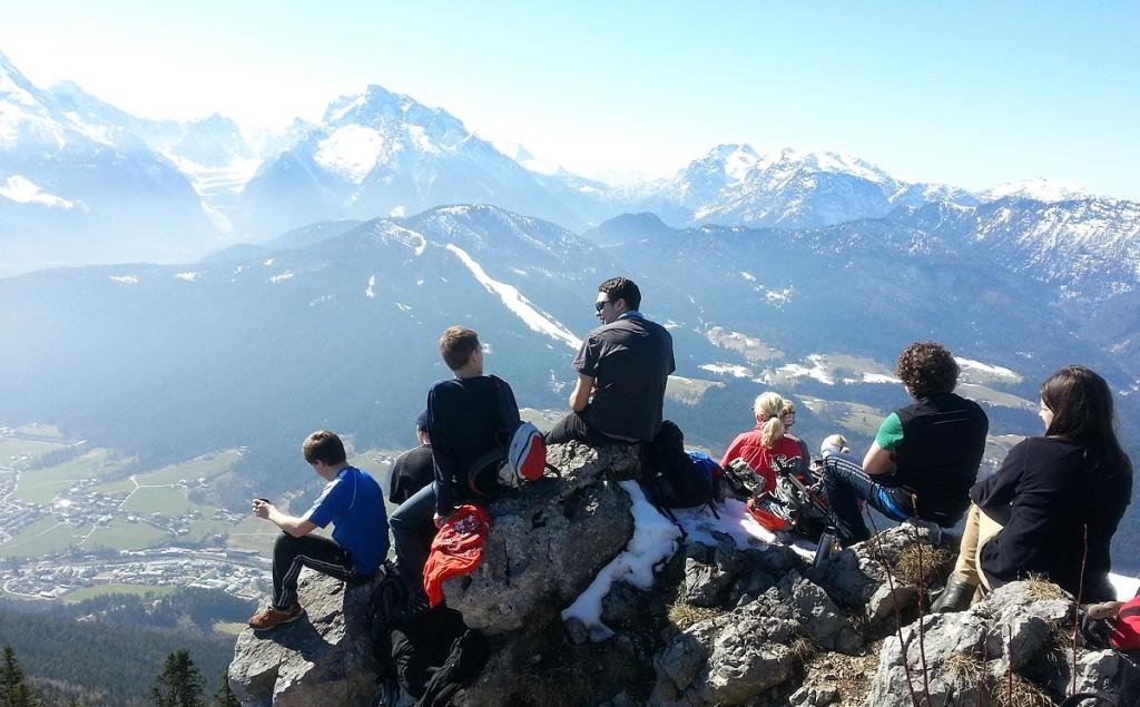 Bergsteiger am Gipfel