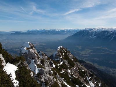Fantastische Fernsicht am Gipfel