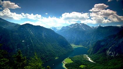 Königssee von oben © Bayerischer Rundfunk