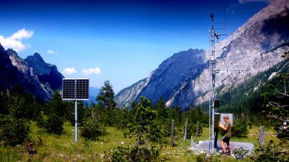 Wetterstation im Wimbachtal © Bayerischer Rundfunk