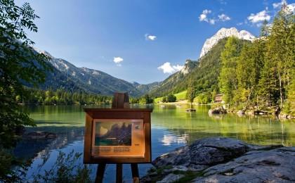 Der Hintersee in Ramsau: Motiv vieler Maler