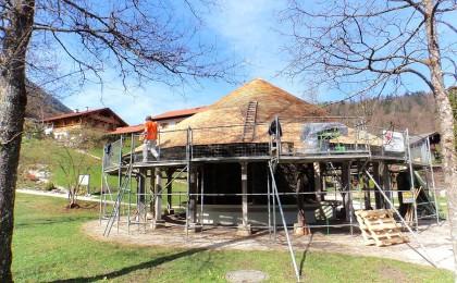 Erneuerung des Schindeldachs am Gradierwerk
