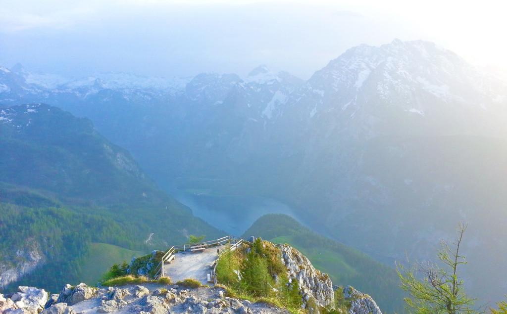 Blick zum Königssee und Watzmann