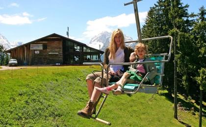 Mit der Hochschwarzeck Bergbahn zum Hirschkaser