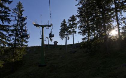 Hirscheckbahn bei Sonnenaufgang