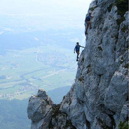 Lang, schwer und steil: Der Pidinger Klettersteig auf den Hochstaufen