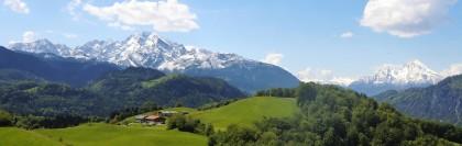 Panorma zum Hohen Göll und Watzmann