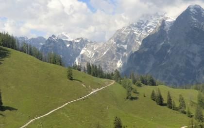 Ausblick auf dem Weg zur Königsbachalm