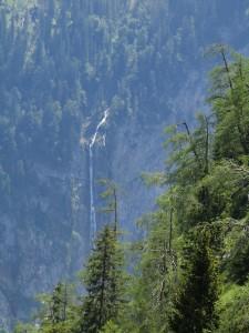 der Röthbachwasserfall von oben