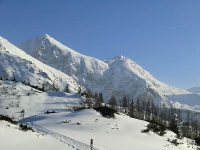 Blick zum Hagengebirge im Winter
