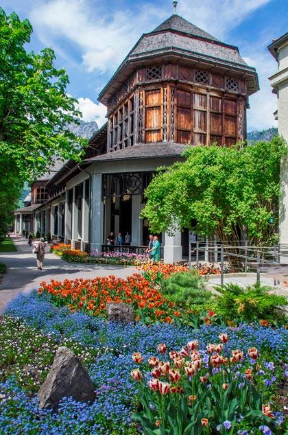 Das Gradierhaus im Königlichen Kurgarten Bad Reichenhall
