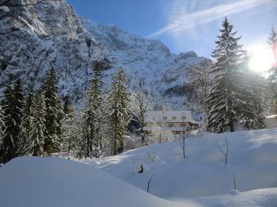 Wimbachschloß im Winter