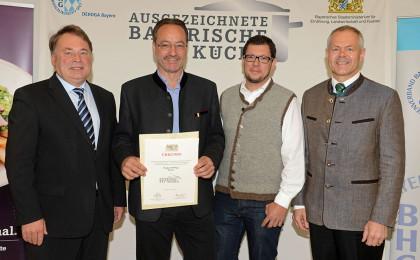 Auszeichnung bayerische Küche für Berghotel Rehlegg