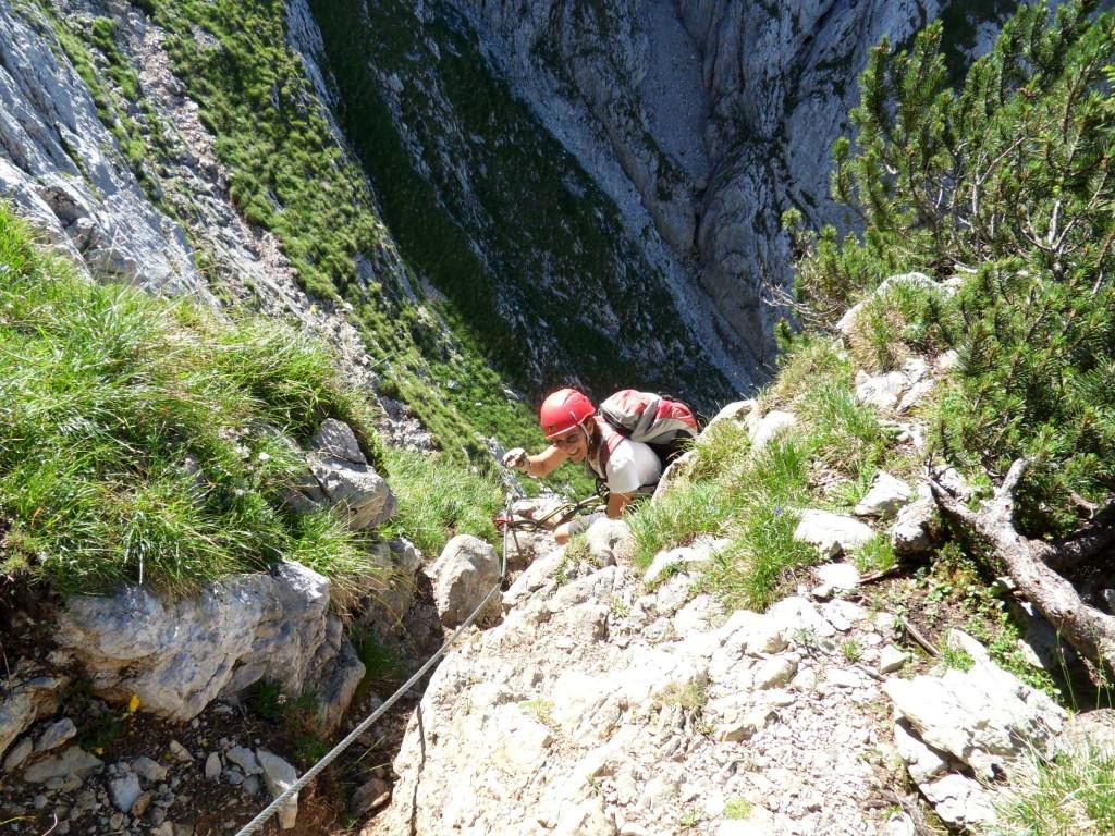 Versichterter Klettersteig