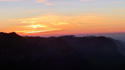 Sonnenuntergang über der Reiteralm